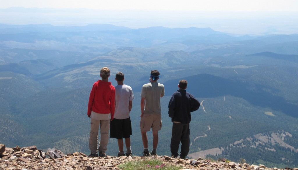 Troop 18 Scouts Take in Mount Baldy at Philmont