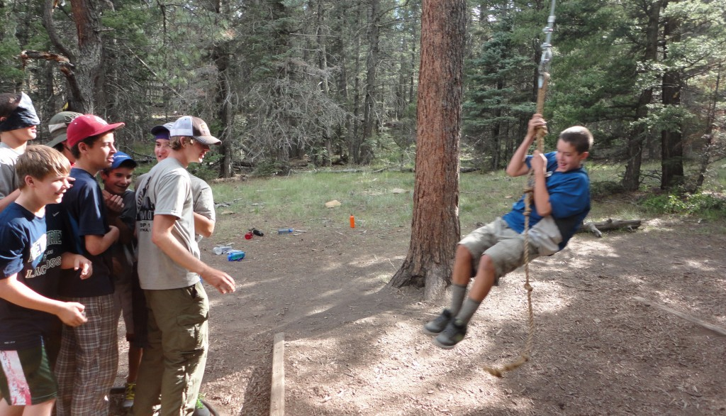 Troop 18 Scouts at Philmont